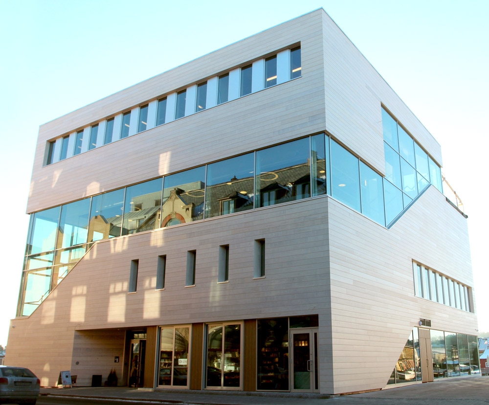 Our office is located in the Litteraturhuset in Fredrikstad, Norway.