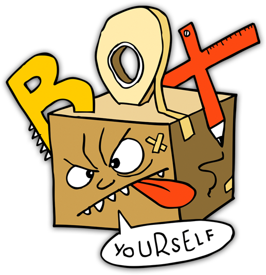 Box Yourself – cardboard creativity from Earthtree Media!
